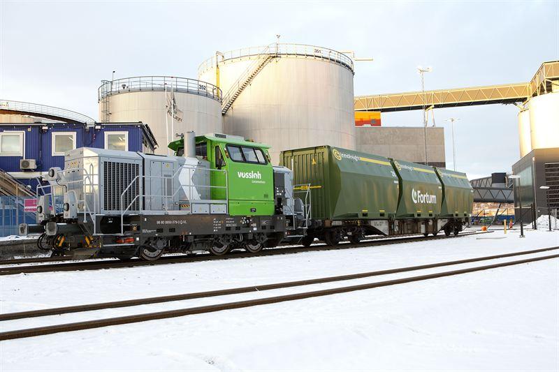 Fortum Värme biokraftvärmeverk biobränsletåg 160120