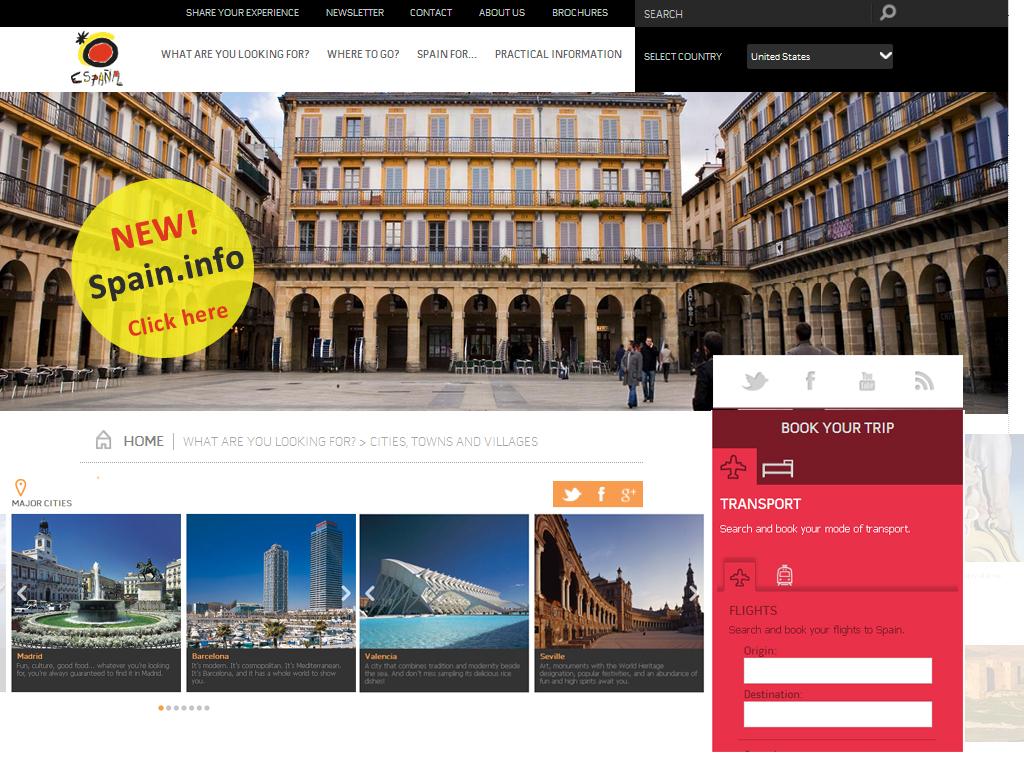 pantallazonewspain infoalta tourist office of spain in miami