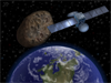 asteroid passing - artists impression