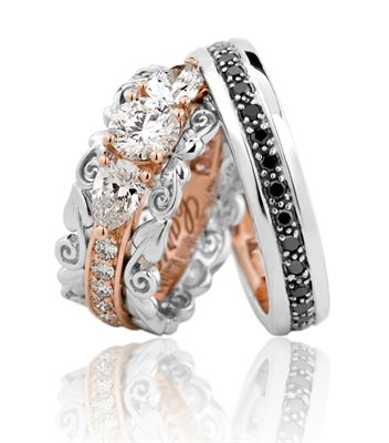 Clogau Makes Bespoke Wedding Rings For The With Golden Harp