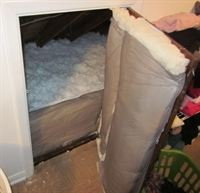 Insulating your attic door is another tip for keeping the cool air in and the warm air out during the hot summer months