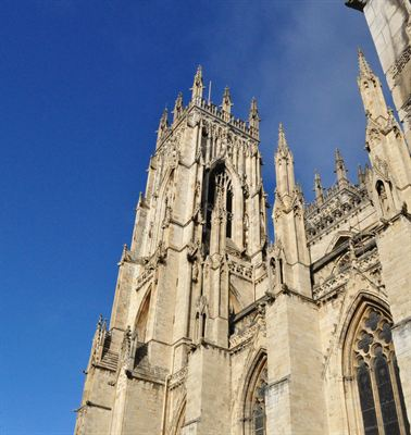 York Minster blue skies