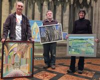 Artists display some of their works