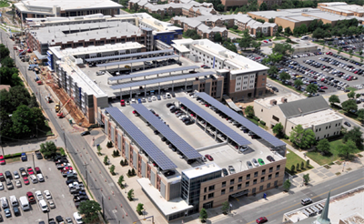 Photovoltaic panels at ut arlington