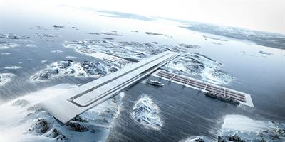 Greenland connecting global Hub AIR PORT Tegnestuen Nuuk BIG Bjarke Ingels Group