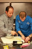 Cameron Bevan and Chef Ralph Pagano
