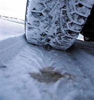 Tyre driving in snow