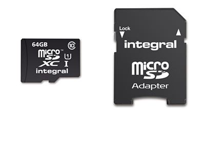 Integral UltimaPro microSDXC C10 64GB 40MBs 1Adapter