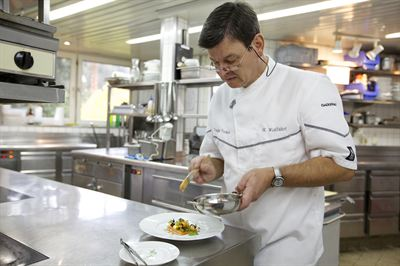 Chef de cuisine at the legendary 3 star restaurant is Harald Wohlfahrt
