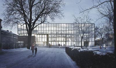frontal view Uppsala stadshus