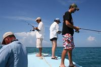Fishing Off The Boat in Sanctuary Belize