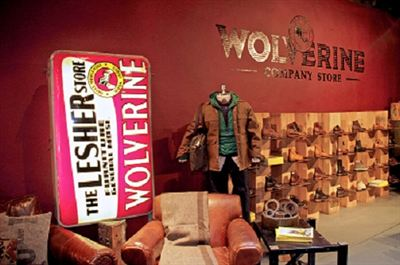 The Wolverine Company Store at 242 Elizabeth Street, New York City.