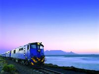 Blue Train Table Mountain a sunset