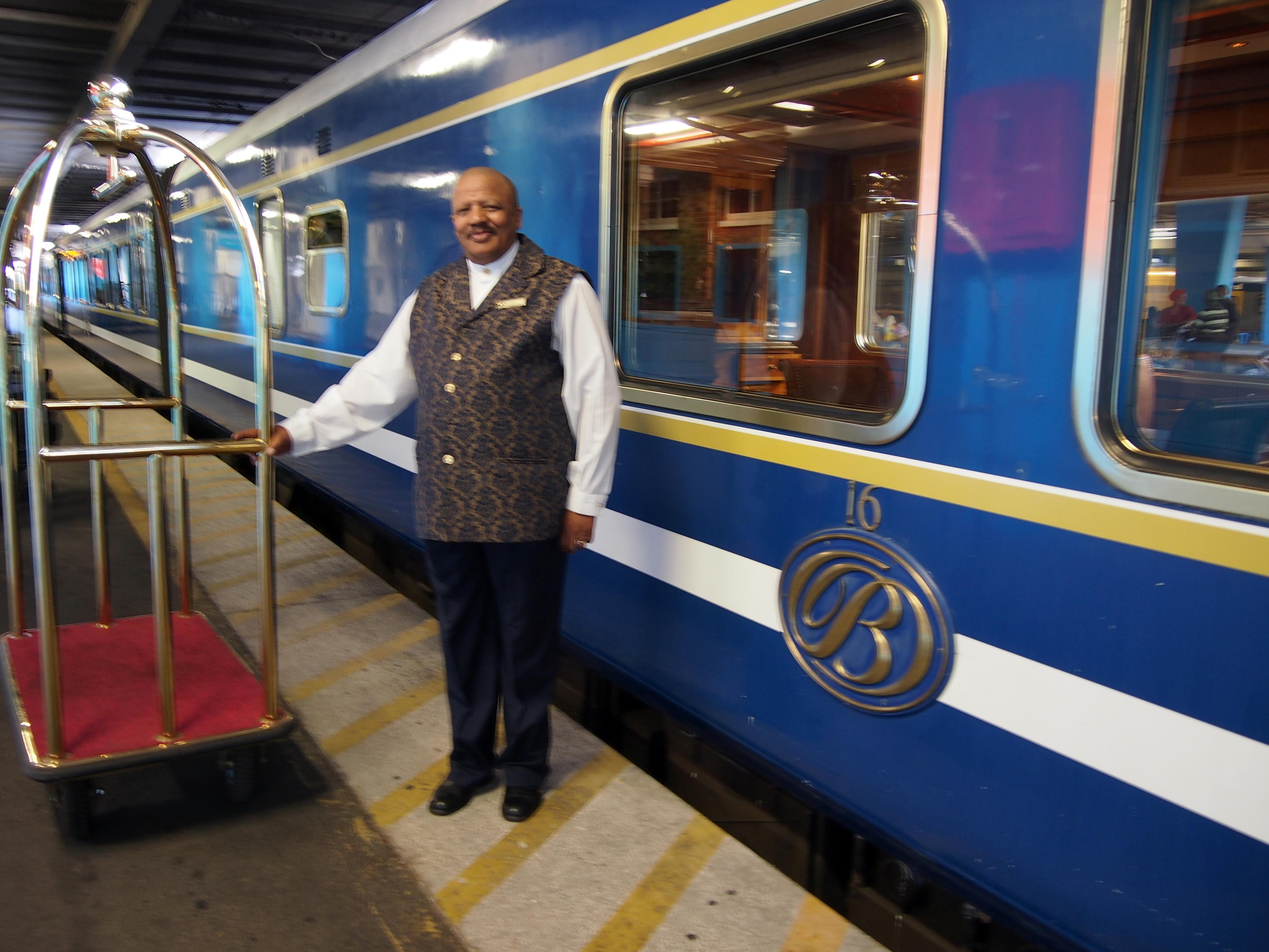 The Blue Train On Platform Ethos Marketing