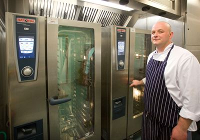Union Jack head chef Marcin Koch with the Rational SelfCookingCenter
