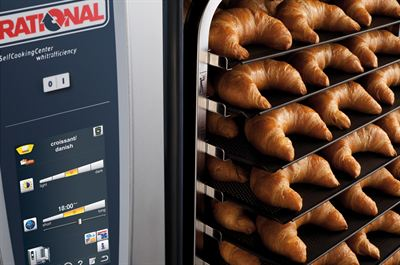 Croissants cooked in a Rational Whitefficiency SelfCookingCenter a great start to the working day