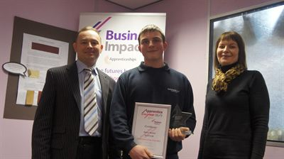 Harry with Nick and Helen Business Impact