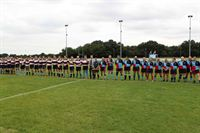 Teams line up