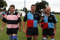 Rob Simpson with Rugby v Football Tug of War Cup