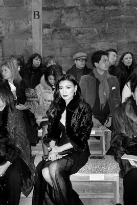 Rebecca Wang attends Chanel&#39;s Mtiers d&#39;Art fashion show at Linlithgow Palace