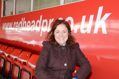redheadPR Press Box with Founder MD Sara Tye