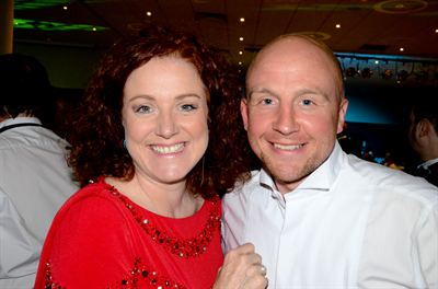 Sara Tye and BBC Wiltshire Radio presenter, Ben Prater