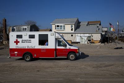 Jan 8, 2013 Red Cross delivery to Long Island