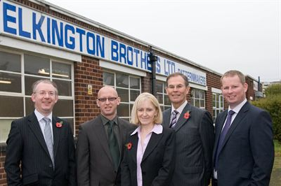 2. (from left to right) Brett Barton, managing director of Cranfield Business Recovery, James Kelly, managing director of Elkington Brothers, Michelle Fleming, company secretary of Elkington Brothers,