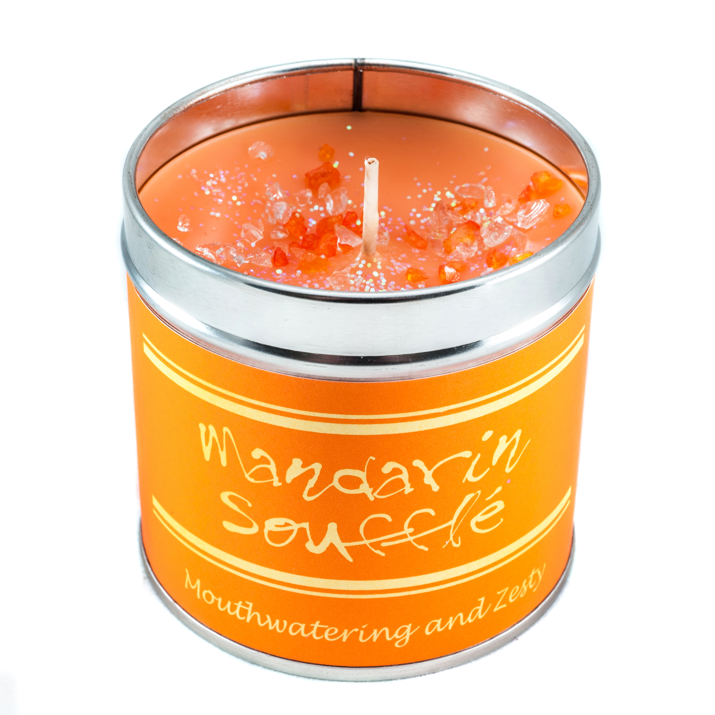 Scented candle tin mandarine souffle best kept secrets for Top selling candle fragrances
