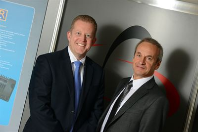 Curtiss-Wright's Kevin Rayment (left) and PGDT's Managing Director Hal Chenhall