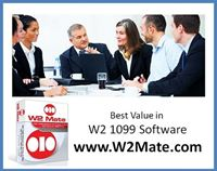  W2 Mate software offers best value in W2, 1099 and 1098 software