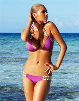 Purple Triangle Bikini Lookbook