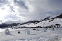 Ice sculpting in Livigno