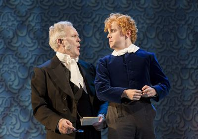 Aeneas Posket John Lithgow and Cis Farringdon Joshua McGuire Photo by Johan Persson