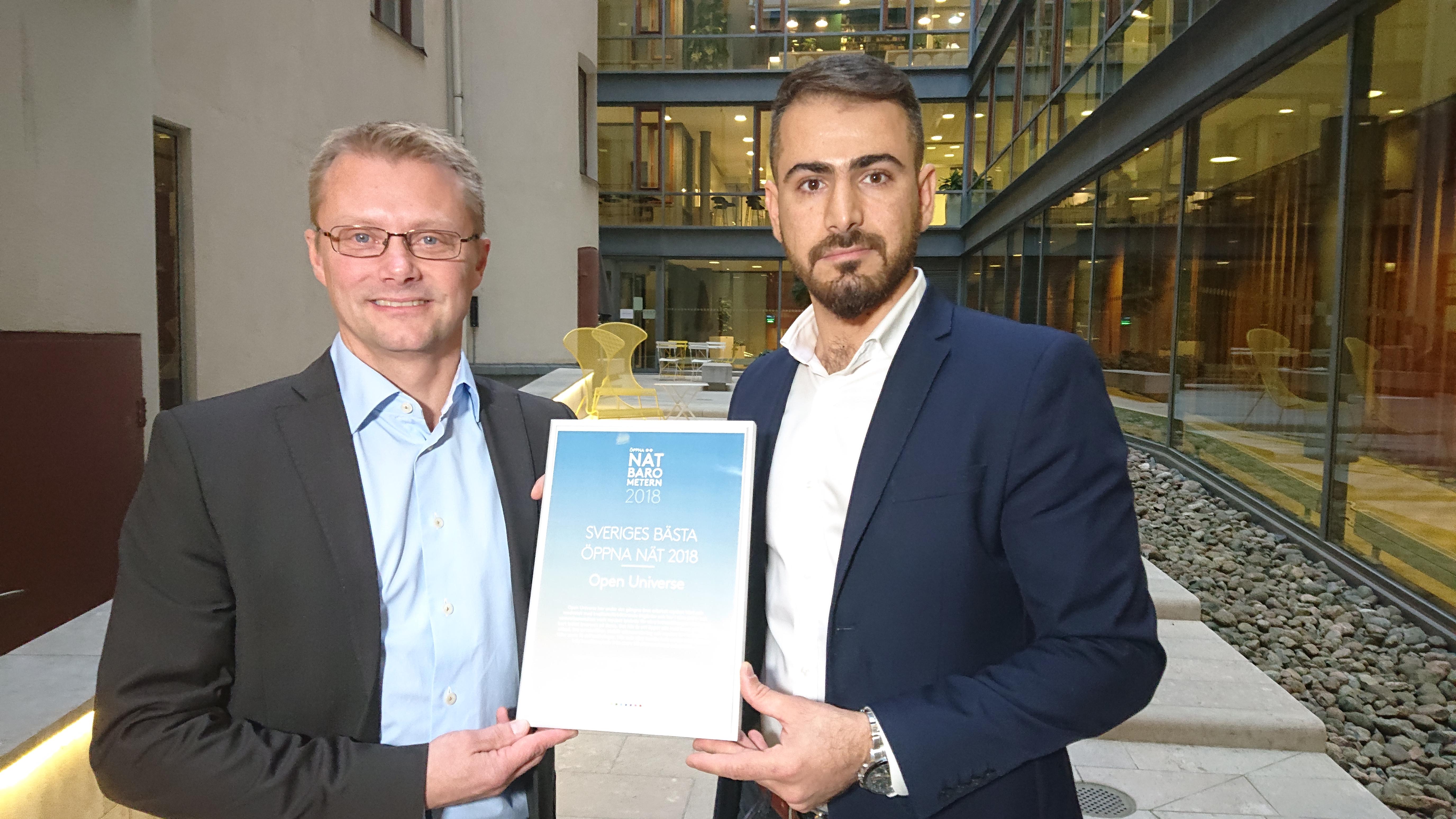 Open Universe vinnare av Öppna Nät-Barometern 2018