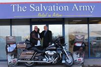 Allan Brownridge of Harley-Davidson UK and Nick Morton of SATCoL