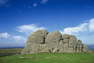 Climbers at Haytor, Dartmoor