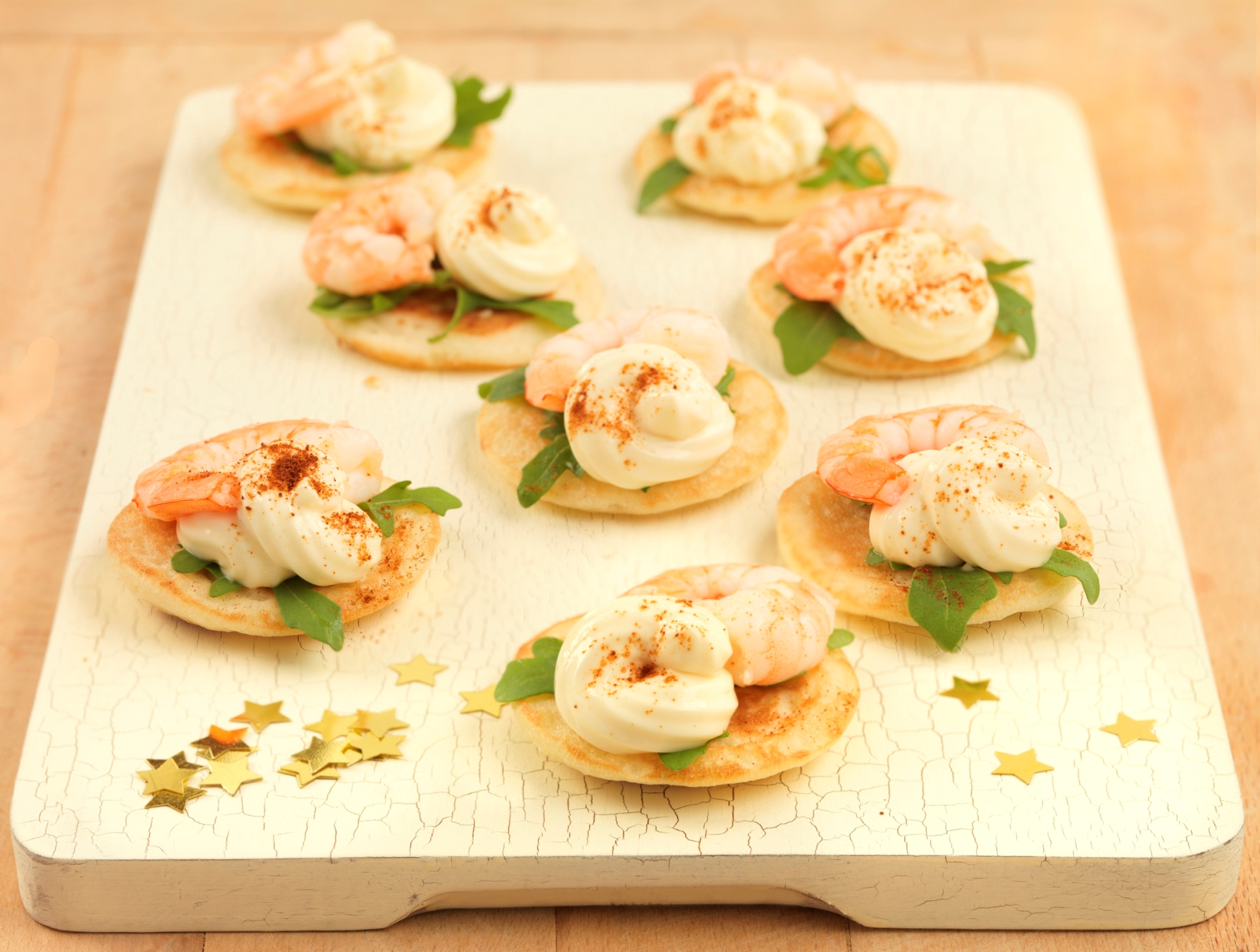 Primula king prawn blinis xmas opr for Classy cuisine canape maker