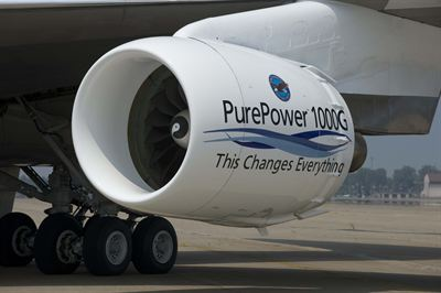 PurePower PW1100G-JM engine