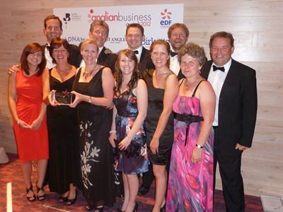 The team from AtlasFram Group at the Anglian Business Awards on 4th July 2012