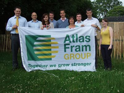 The team from Atlas Fram Group who will be taking part in the Three peaks Challenge