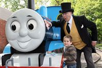 Jacob Owen meets The Fat Controller at Drayton Manor