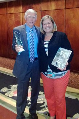 Jim Catlett and Marissa Edwards - 2013 AH&LA Stars of the Industry Award Winners