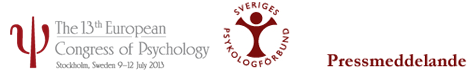 Internationell psykologikongress i Stockholm-ECP2013