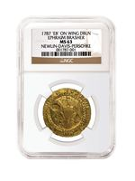 1787 Brasher Doubloon NGC MS63