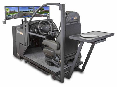 DriveSafety's new high-end CDS-250W Clinical Driving Simulator.