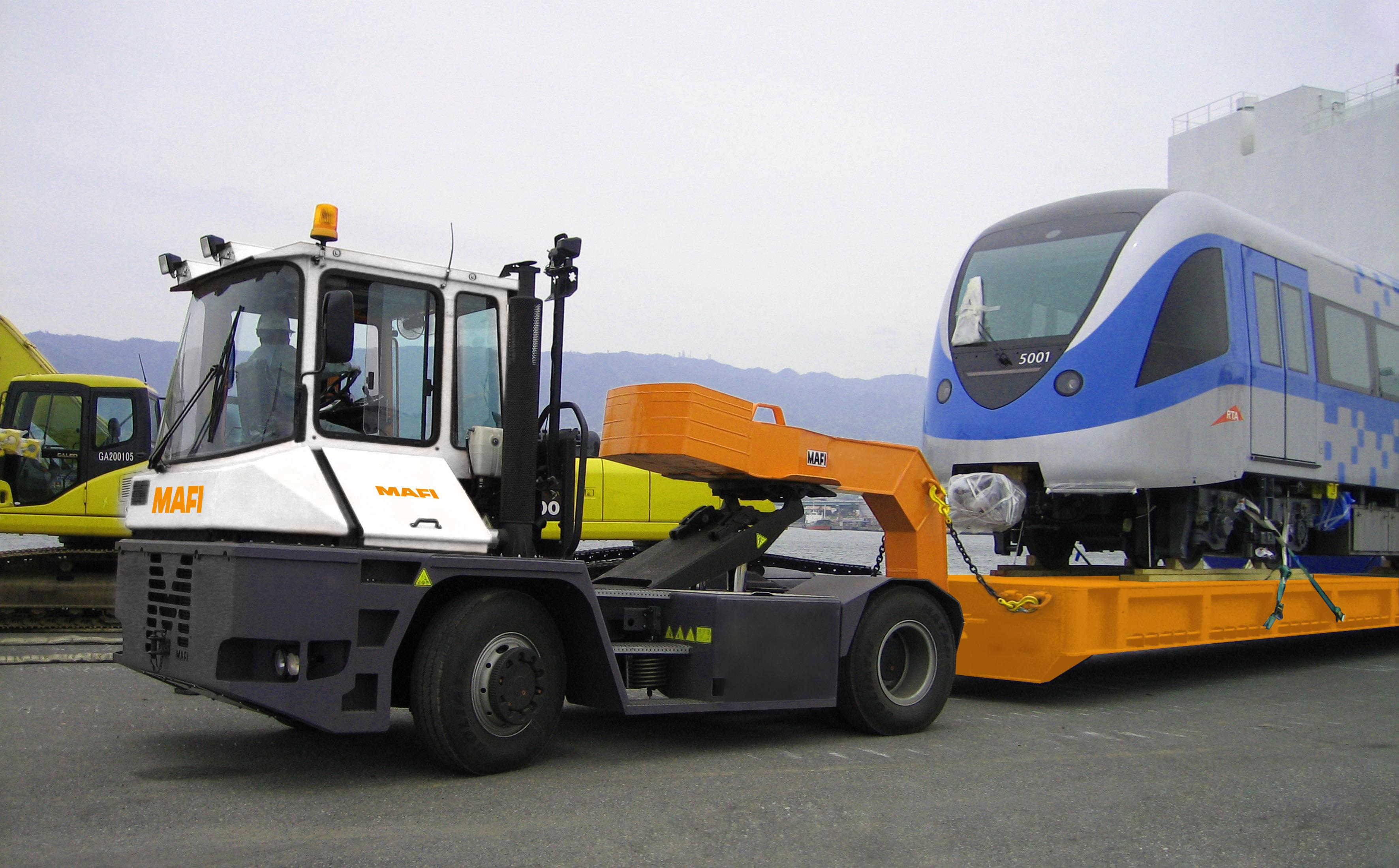 038 Impact Handling Mafi Ro Ro Tractor Impact Handling