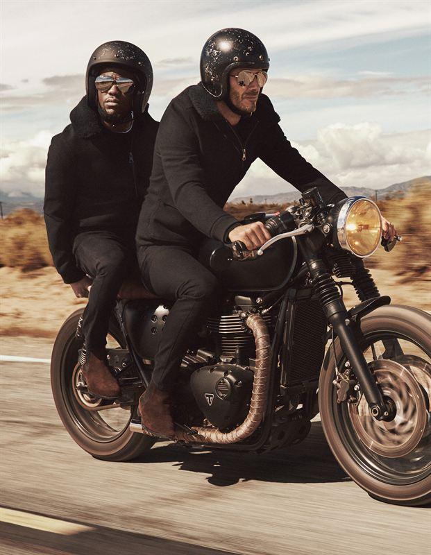 Old Fashion Motorcyclist