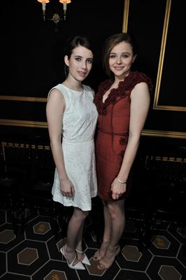 H&M Fashion show - Emma Roberts and Chloe Moretz wearing H&M