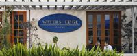 waters edge patio sign